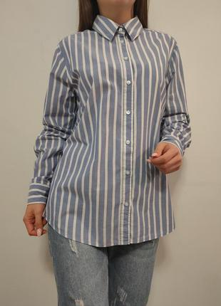 Натуральная рубашка в полоску