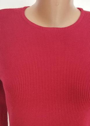 Базовая бордовая блуза - резинка /xl/