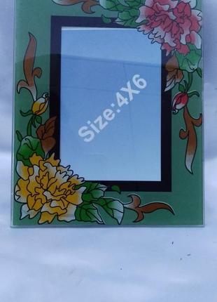Стеклянная рамка для фотографии 10х15см.
