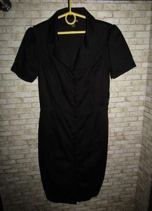 Натуральное платье р-р 38-12 сост нового h&m