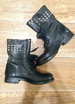 Шкіряні чобітки португалія кожаные ботинки