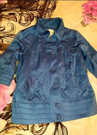 Курточка синяя женская с коротким рукавом безрукавка распродажа