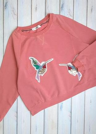 💥1+1=3 красивый розовый свитер свитшот оверсайз couture, размер 46 - 48