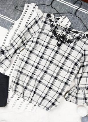 Хлопковая блуза кофточка вышиванка george