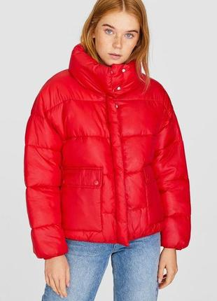 Новая !stradivarius куртка дутая стёганная