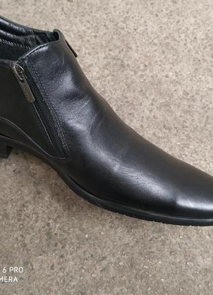 Ботинки кожа осень на байке