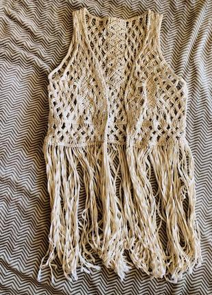 Плетённая жилетка