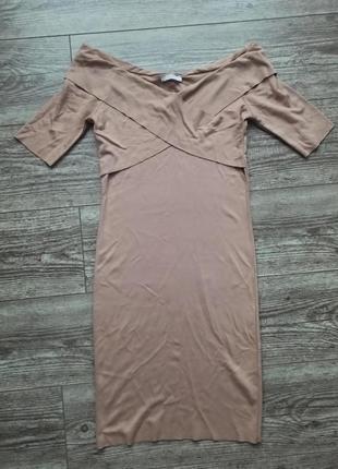 Платье нюдового цвета