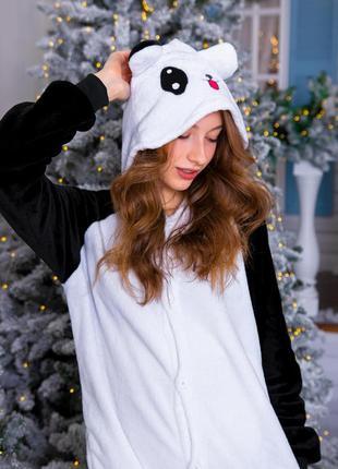 Флисовый кигуруми панда унисекс (для детей и взрослых)