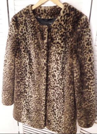 Эко шуба зимняя шуба леопардовая шуба тигровая шуба