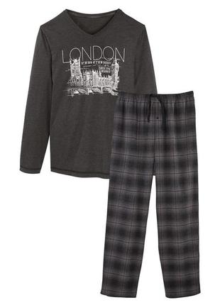 Комплект для дома и отдыха пижама мужская штаны фланель