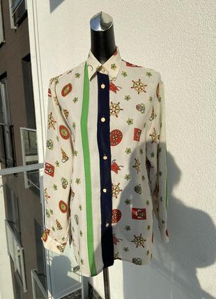 Блуза вінтажна шовк італія