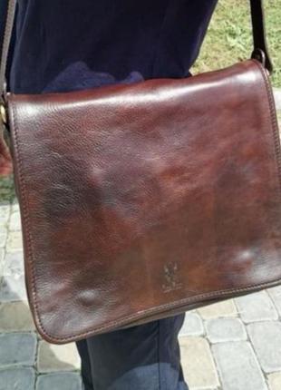 Сумка для документов /кожаная сумка /vera pelle