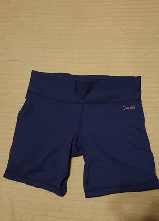 Темно-синие эластичные спортивные шорты usa pro сша 10 р.
