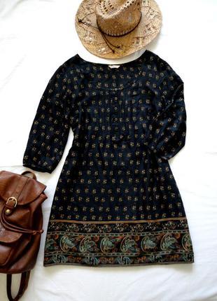 Платье marks & spencer бохо кантри прямое свободное можно для беременных