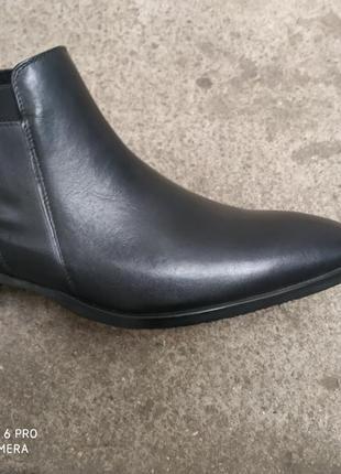 Польские кожаные ботинки на байке