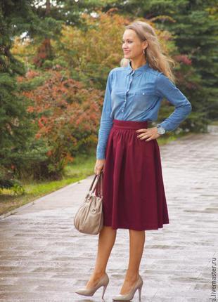 Модная юбка - миди