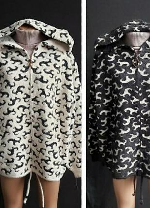 Стильная куртка,кардиган с альпаки, размер универсальный.