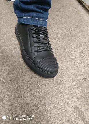 Ботинки кожаные на байке