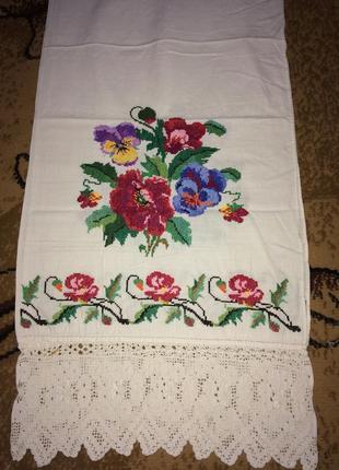 Вышитый рушник на свадьбу ручной работы