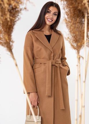 Осіннє пальто в кольорі кемел