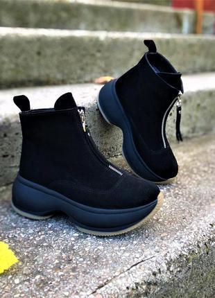 💥 стильные замшевые ботинки теплые