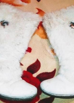 Белоснежные пушистые сапожки зимние распродажа