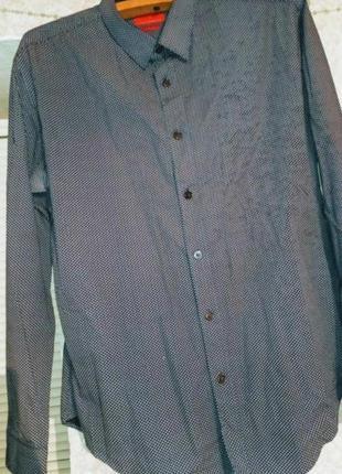 Серая рубашка унисекс оверсайз распродажа гусиная лапка