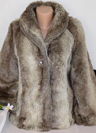 Брендовая демисезонная шуба полушубок с карманами new look акрил этикетка