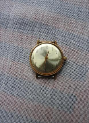 Часы наручные луч 23 камня позолоченные позолота au20 рабочие