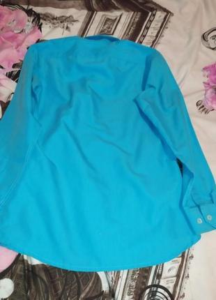 Синяя рубашка с рукавами на парня лет 14-16 распродажа
