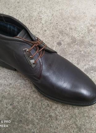 Ботинки на байке осень кожа