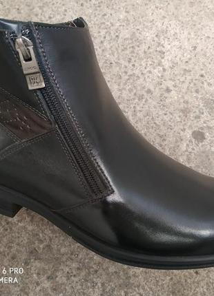 Демисезонные ботинки кожа на байке