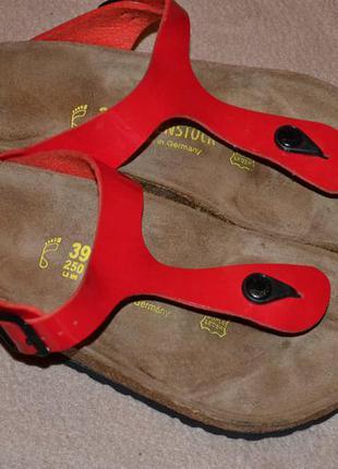 Шлёпанцы ортопеды birkenstock германия оригинал 25 см стелька в сост новых