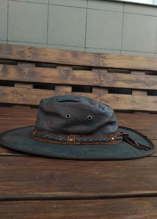 Австралийская шляпа outback hat кожа буйвола