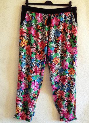 Удобные вискозные брюки большого размера, батал 54-56