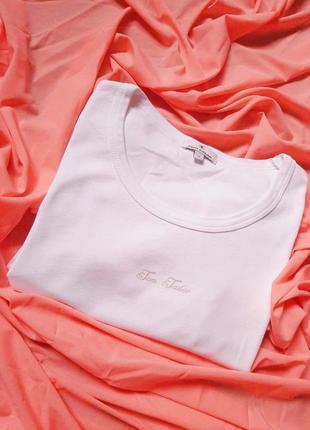 Базова футболка білого кольору від tom tailor🤍