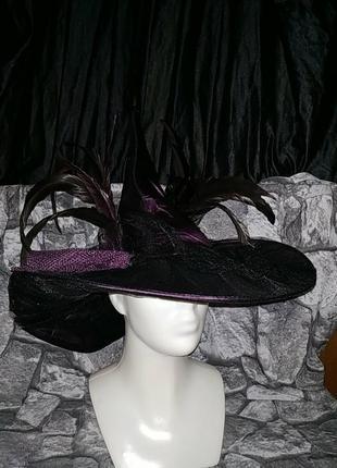 Крутая ведьминская шляпа шляпа ведьмы на хеллоуин с перьями