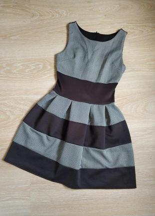 Плаття в клітинку коротке чорне. платье в клетку