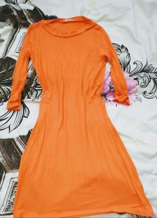 Платье оверсайз апельсинового морковного цвета бренд river island