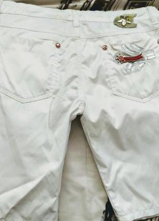 Белые брендовые короткие шорты от victoria beckham распродажа 100% хлопок