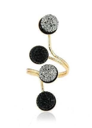 Роскошное массивное кольцо под золото / большая распродажа!