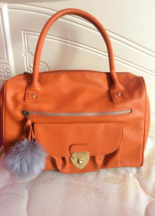 Хит моды оранжевая сумка1 фото