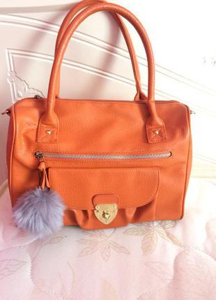 Хит моды оранжевая сумка4 фото