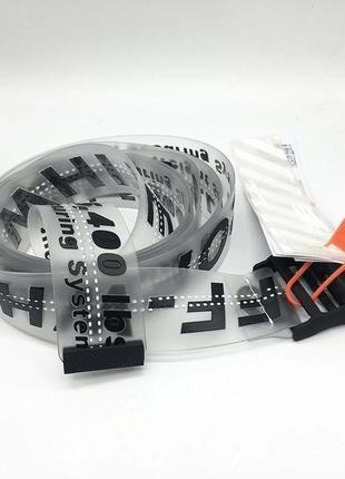 Прозрачный ремень off-white industrial belt