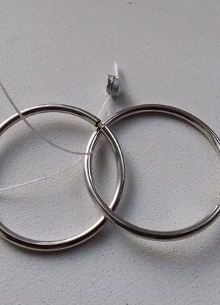 Серьги серебро, д.2,5 см