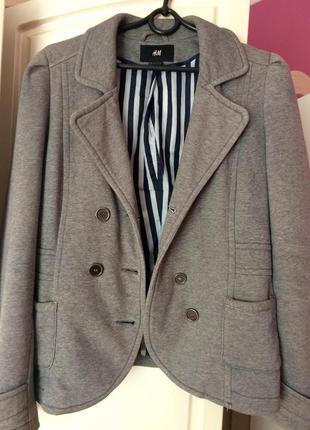 Пиджак серый h&m