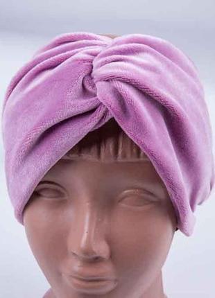 Повязка на голову, теплая широкая повязка чалма