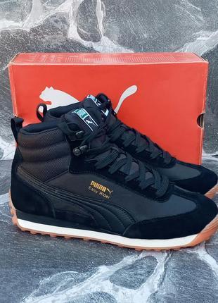 Puma easy rider winter мужские кроссовки, черные,замшевые