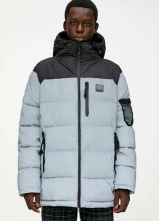 Зимняя удлиненная куртка pull&bear , m